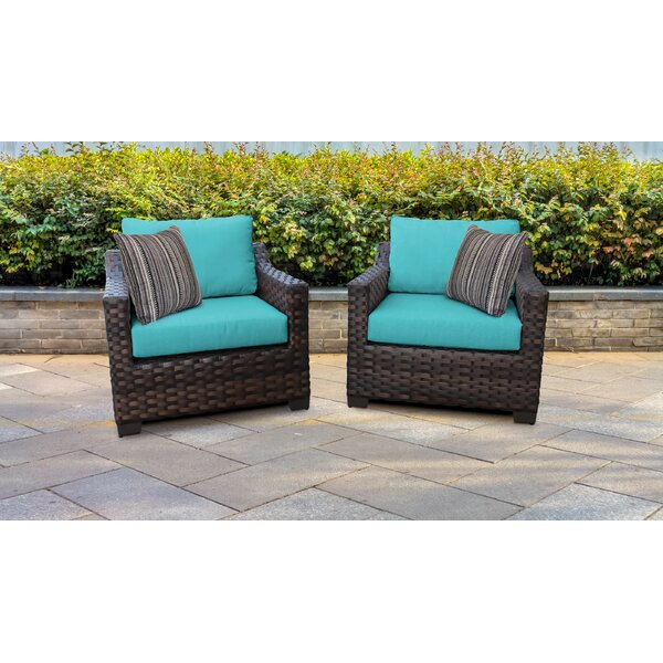 kathy ireland Homes & Gardens River Brook 2 Piece Outdoor Wicker Patio Furniture Set 02b (Set of 2) by kathy ireland Homes & Gardens by TK Classics