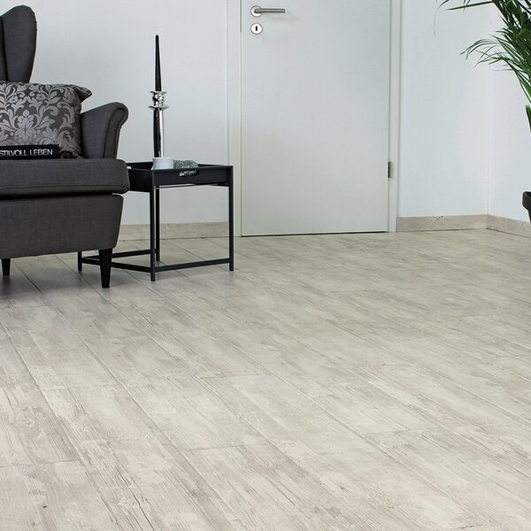 7 x 47 x 11mm Laminate Flooring in White by ELESGO Floor USA