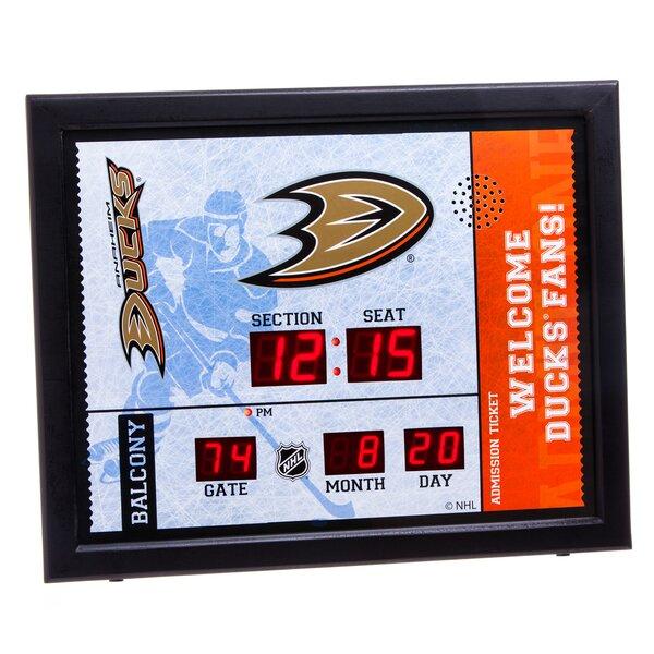 NHL Bluetooth Scoreboard Wall Clock by Evergreen E