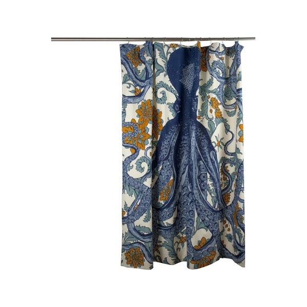 Vineyard Octopus Cotton Shower Curtain by Thomas Paul