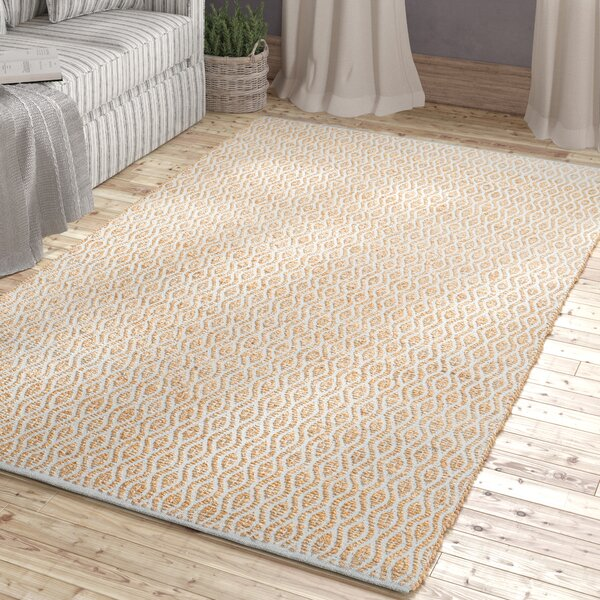 Kellar Hand-Woven Silver/Natural Area Rug by Beachcrest Home