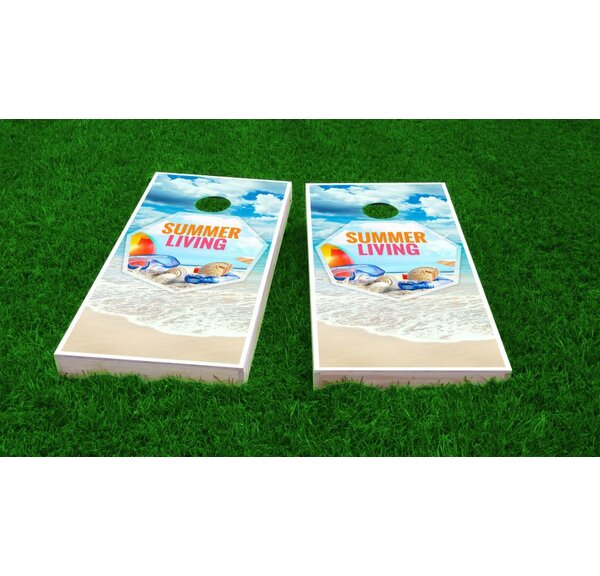 Beach Light Weight Cornhole Game Set by Custom Cornhole Boards