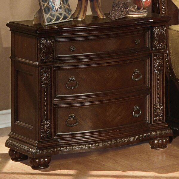 Wentz 3 Drawer Nightstand by Astoria Grand