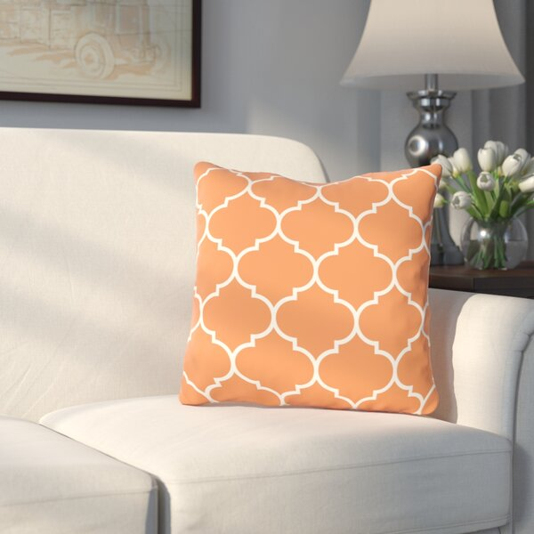 East Village Repeating Moroccan Outdoor Throw Pillow by Charlton Home