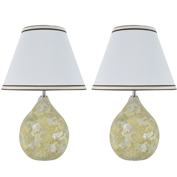 Sheller Ceramic 18 Table Lamp (Set of 2) by Latitude Run