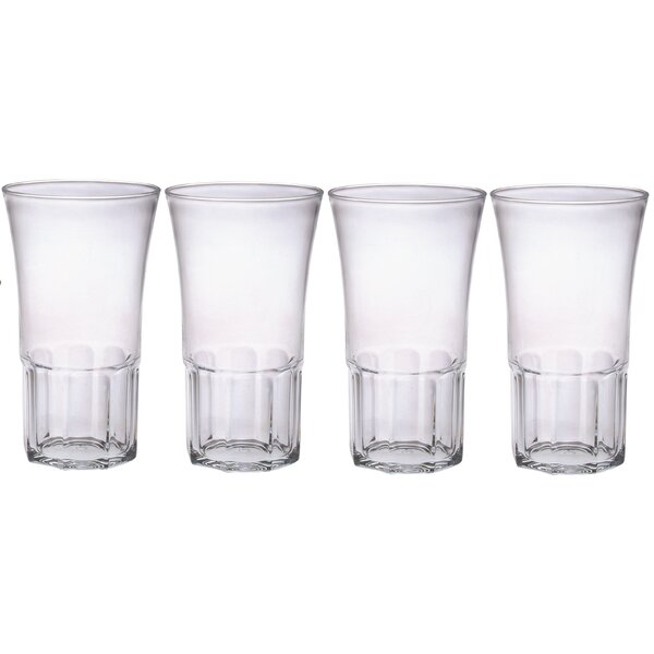 Edge 20 oz. Plastic Every Day Glass (Set of 4) by Chenco Inc.
