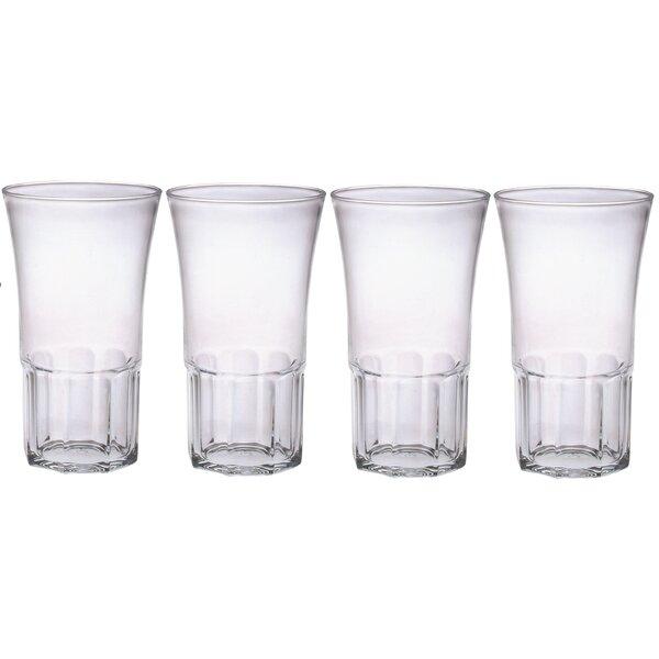 Edge 20 oz. Plastic Every Day Glass (Set of 4) by Chenco Inc.