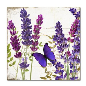 'Lavender I' by Color Bakery Graphic Art on Wrapped Canvas by Trademark Fine Art