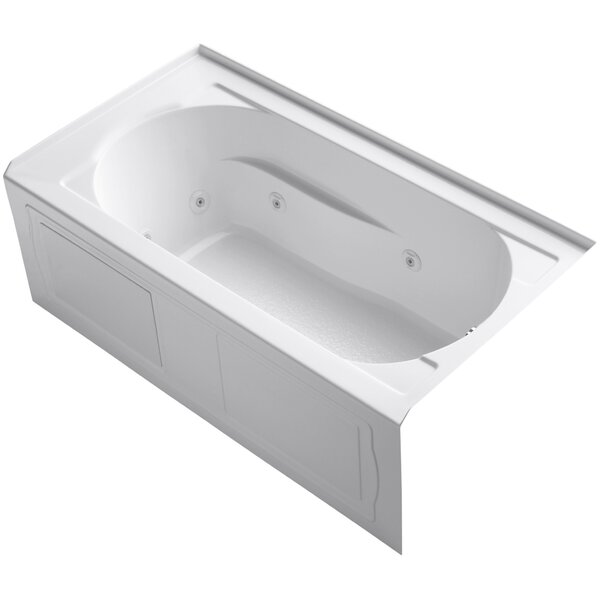 Devonshire Alcove Whirlpool with Integral Apron, Tile Flange, Right-Hand Drain and Bask™ Heated Surface by Kohler