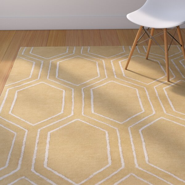 Bothwell Hand-Tufted Tan Area Rug by Mercury Row