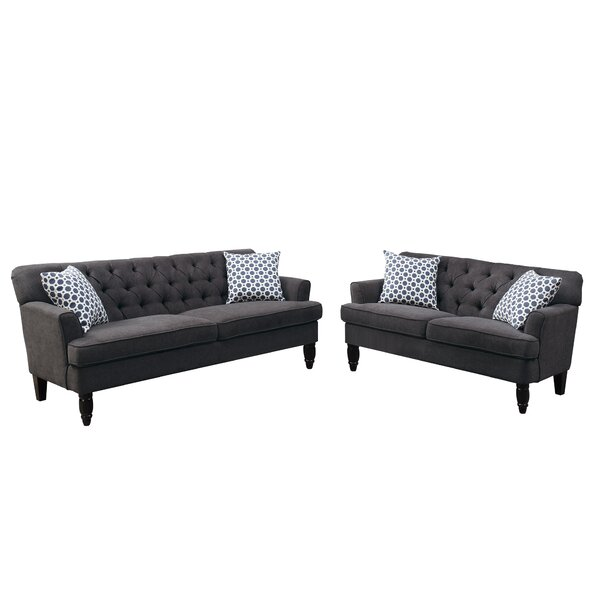 Bobkona Fostord 2 Piece Living Room Set by Poundex