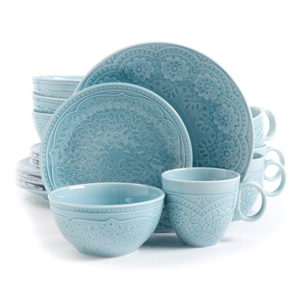 Nieto 16 Piece Dinnerware Set, Service for 4 by Bungalow Rose