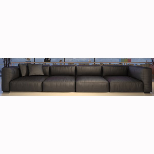 Samiyah Leather Sectional by Brayden Studio