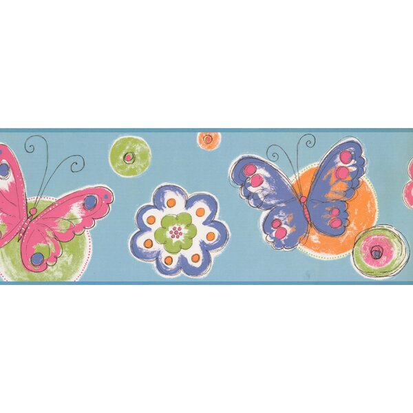 Cool Kids Butterfly Circle Wall Border by York Wallcoverings