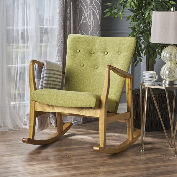 Sauceda Fabric Rocking Chair by Brayden Studio