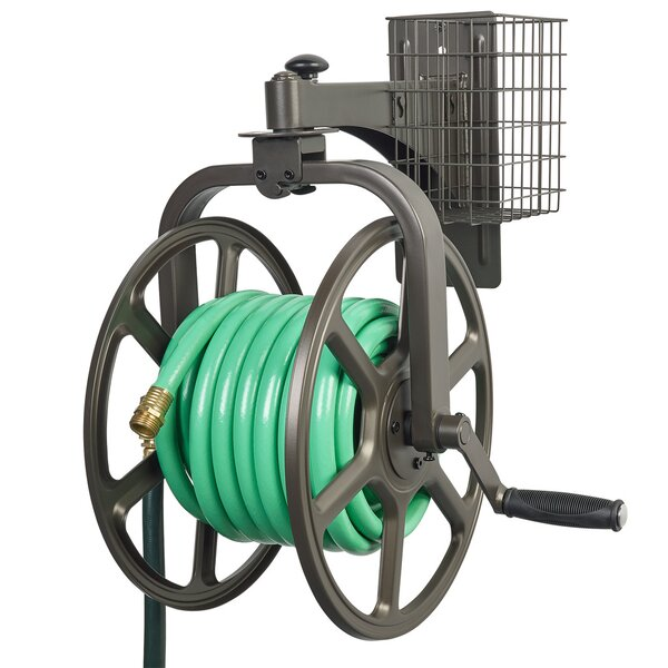 Single Arm Navigator Multi-Directional Steel Hose Reel by Liberty Products