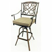 Luxury 29.5 Patio Bar Stool with Cushion by Vandue Corporation