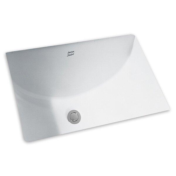 Studio Ceramic Rectangular Undermount Bathroom Sink with Overflow by American Standard