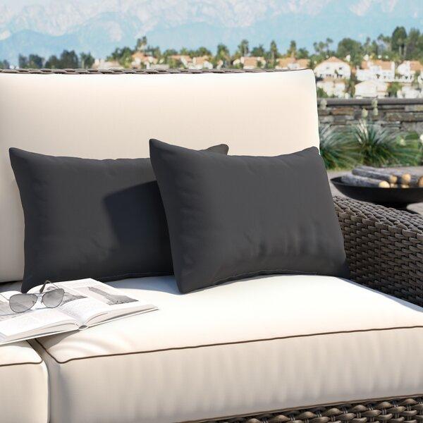 Hinkson Indoor/Oudoor Sunbrella Lumbar Pillow (Set of 2) by Brayden Studio