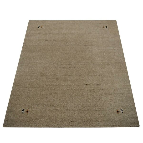 Robena Hand-Knotted Wool Ivory Area Rug by World Menagerie