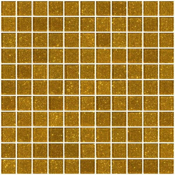 1 x 1 Glass Mosaic Tile in Gold by Susan Jablon