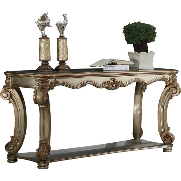 Review Lindsay Wood Console Table