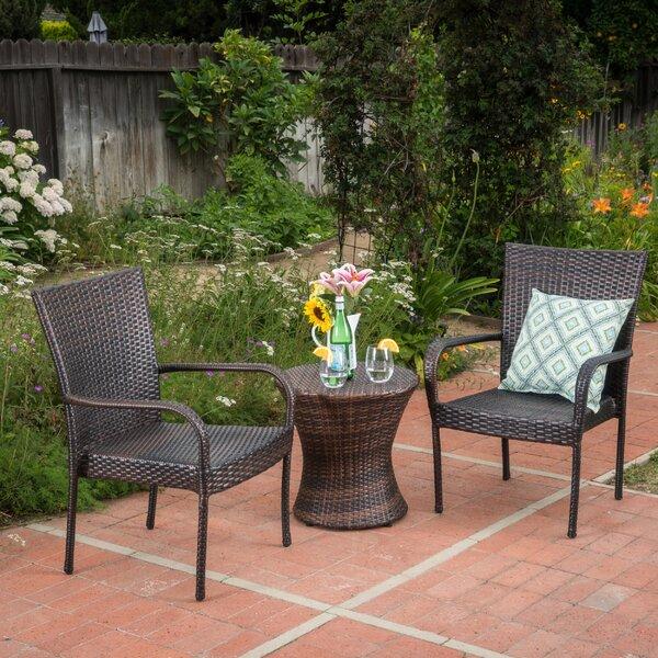 Preston 3 Piece Rattan Seating Group by Ebern Designs