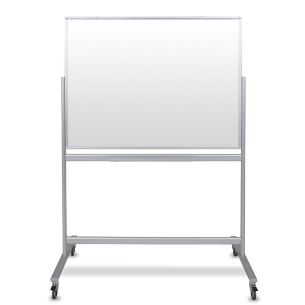 Dry Erase Free Standing Glass Board By Luxor.