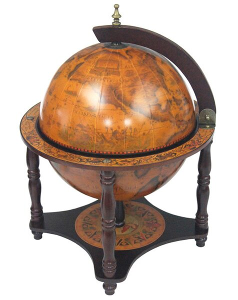 Italian Style 13 Tabletop Globe Bar in Old World by Merske LLC