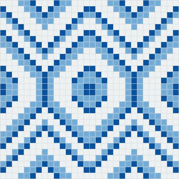 Urban Essentials Funky Diamond 3/4 x 3/4 Glass Glossy Mosaic in Lakefront Blue by Mosaic Loft