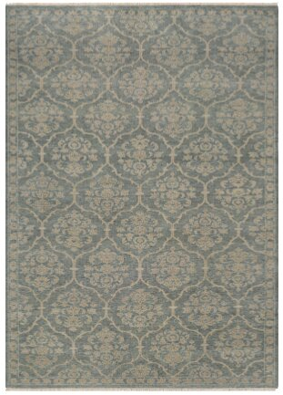 Harwich Floral Arabesque Hand-Knotted Sage Green Area Rug by Darby Home Co