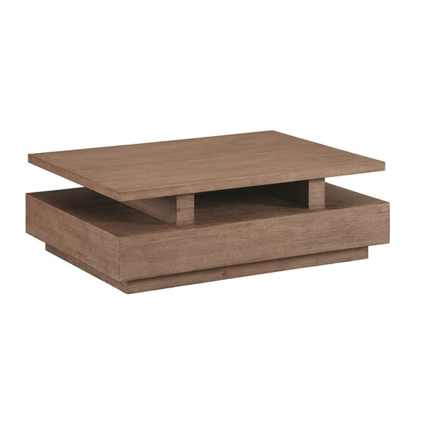Hadrian Rectangular Coffee Table with Casters by 17 Stories