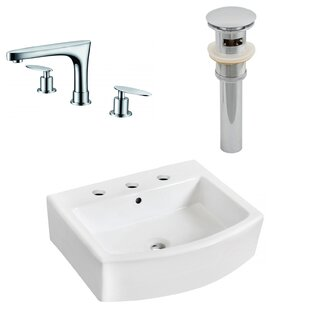 Compare & Buy Ceramic 22 Bathroom Sink with Faucet and Overflow ByRoyal Purple Bath Kitchen