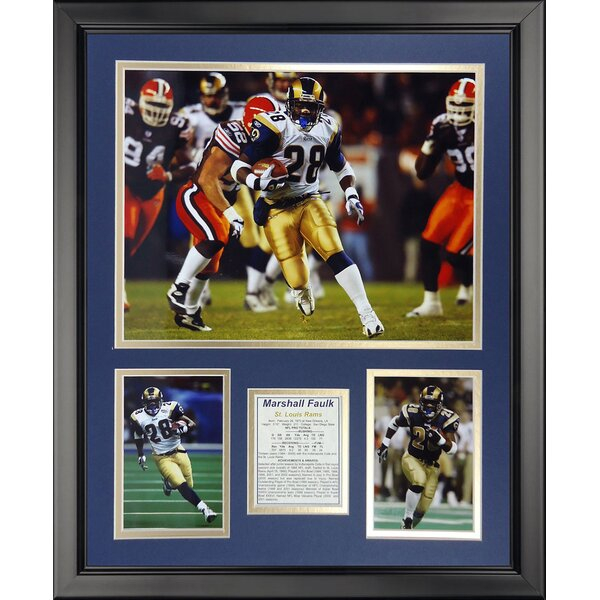 NFL St. Louis Rams - Marshall Faulk Framed Memorabili by Legends Never Die