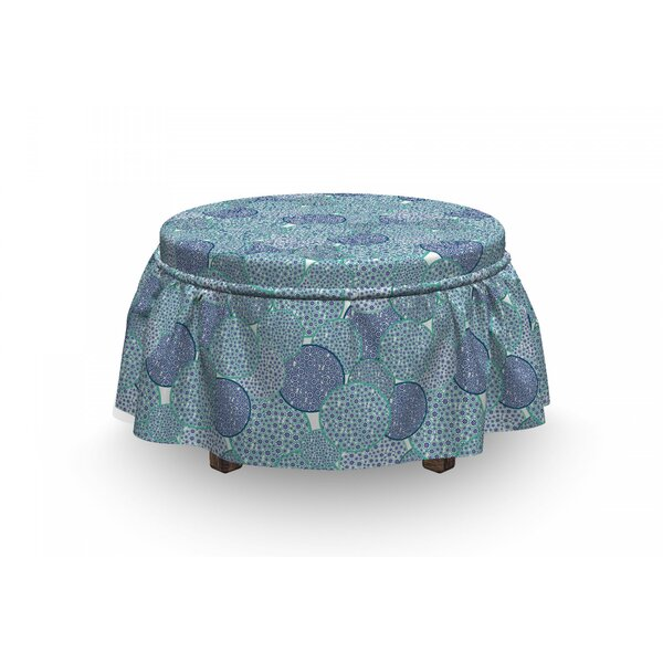 Filled Circles Ottoman Slipcover (Set Of 2) By East Urban Home