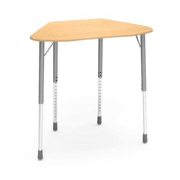 Zuma Series Plastic Adjustable Height Collaborative Desk (Set of 2) by Virco