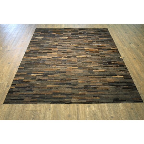 One-of-a-Kind Oconner Hand-Woven Cola Brown Area Rug by Loon Peak