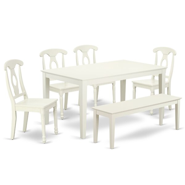 Kristian 6 Piece Solid Wood Dining Set by August Grove