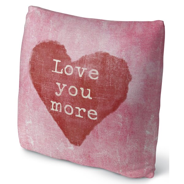 Love You More Throw Pillow by KAVKA DESIGNS