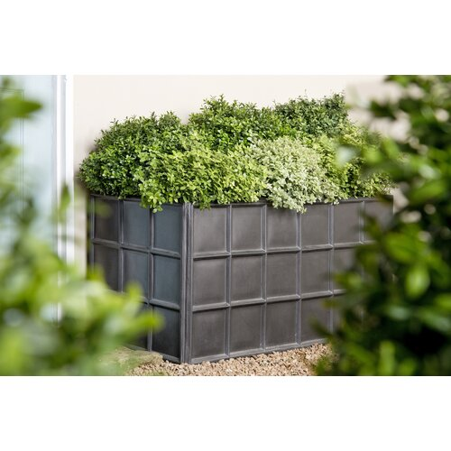 Fibreglass Planter Box Freeport Park Size: 50 cm H x 100 cm