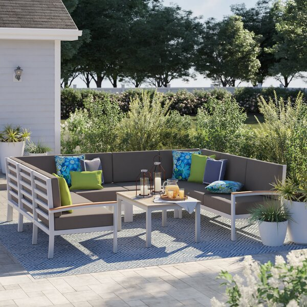 Caspian Arm Sectional with Cushions by Sol 72 Outdoor