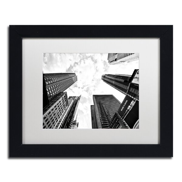 Times Square Skyscrapers by Philippe Hugonnard Framed Photographic Print by Trademark Fine Art