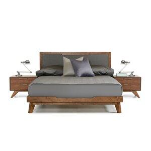 hali upholstered platform bed - Mid Century Modern Bed Frame