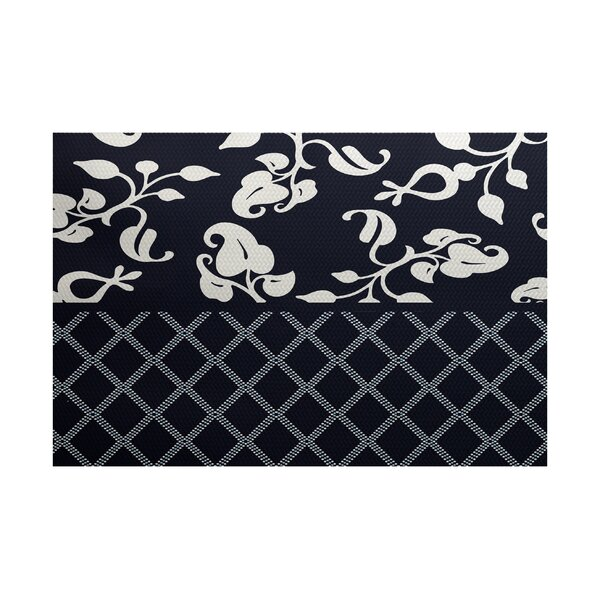 Fairdale Navy Blue Indoor/Outdoor Area Rug by Alcott Hill