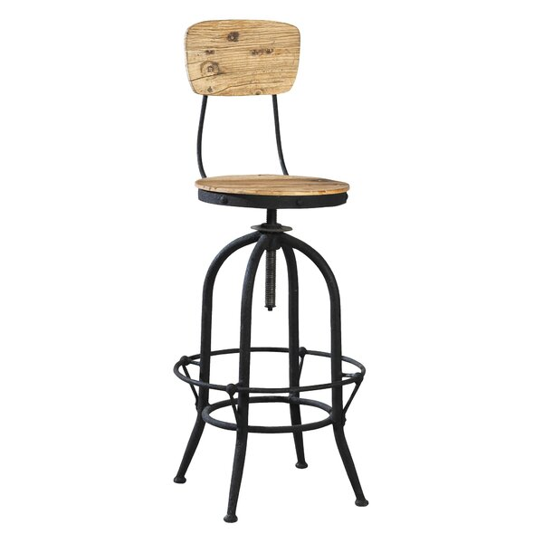 Adjustable Height Swivel Bar Stool by Furniture Classics