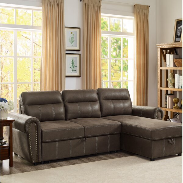 Estepp Reversible Sleeper Sectional by Winston Porter