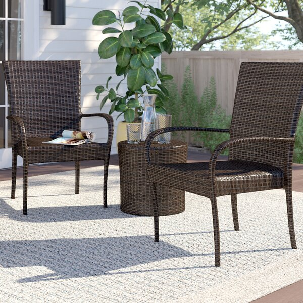 Stacie 3 Piece Rattan Conversation Set By Zipcode Design