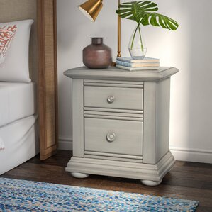 Dickens 2 Drawer Nightstand by Beachcrest Home
