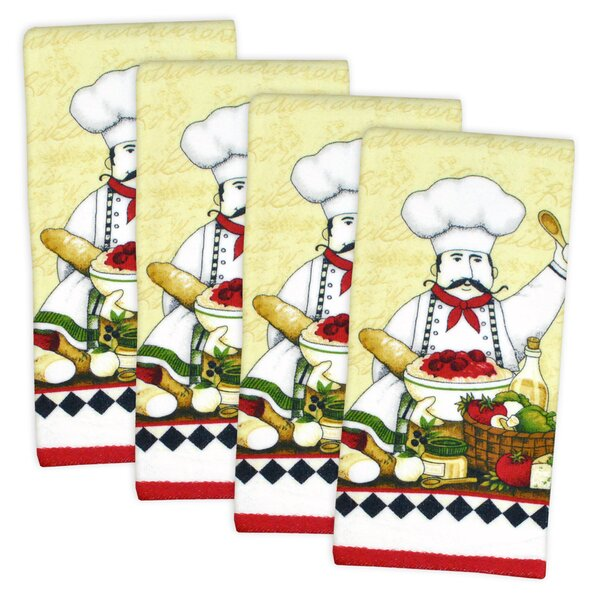 Essential Terry Chef Dishtowel (Set of 4) by Design Imports