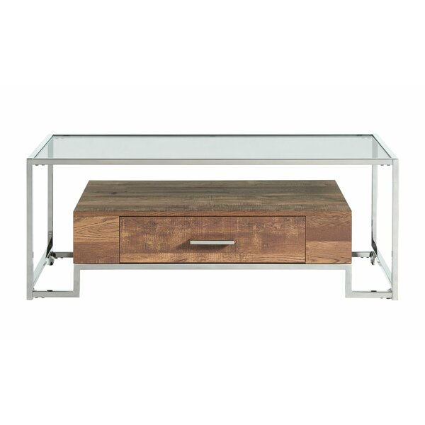 Emestina Coffee Table With Storage By Ebern Designs